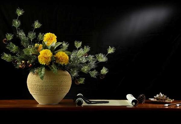 模擬花套裝花藝 客廳玄關假花幹花裝飾品商業插花- 12950064