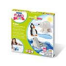 FIMO無毒烤箱軟陶 MS8034-15LZ KIDS系列套組【樂遊習作】-極地動物 LV.2級