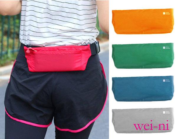 wei-ni 菱形貼身運動腰包(大) 隨身運動腰包 登山包 水壺腰帶 手機包 單車包 手機袋 隨身零錢袋