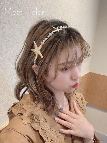 塔蘭發箍女韓國百搭海星外出韓國短發簡約發卡時尚氣質壓發頭飾品
