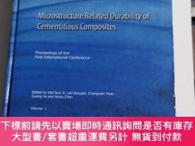 二手書博民逛書店Microstructure罕見Related Durability of cementitious compos