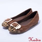 2016秋冬新品上市kadia金屬飾扣反毛羊包鞋(棕色)