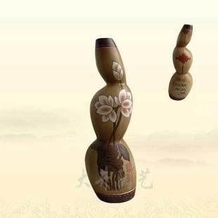陶藝禮物工藝品擺設擺件連升*佳偶天成花瓶裝飾品
