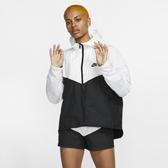 Nike PORTSWEAR 女裝 連帽外套 風衣 經典 拉鍊口袋 黑白【運動世界】BV3940-101