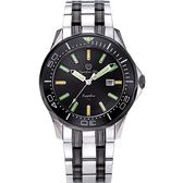 Olympia Star 奧林比亞之星 神盾系列極限氚氣石英腕錶-雙色x黑
