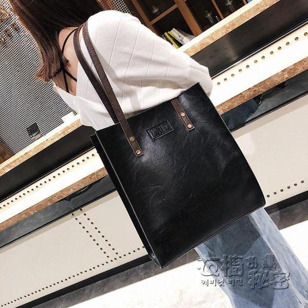 大包包秋冬新款女包歐美復古簡約公文包時尚手提包單肩包潮包 衣櫥秘密