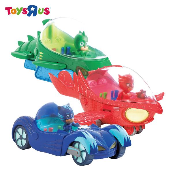 玩具反斗城 PJ MASKS豪華人偶汽車組