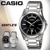 CASIO手錶專賣店 卡西歐  MTP-1370D-1A1 男錶  礦物防刮玻璃 防水50米 日期星期 三折式不鏽鋼錶帶