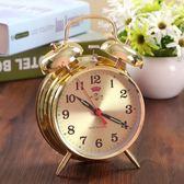 超大聲音起床馬蹄錶鬧鐘機械老式復古懷舊全金屬機芯手動發條鬧鐘