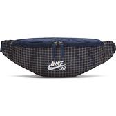 Nike Heritage Swoosh 側背包 腰包 格紋 深藍【運動世界】CK6755-410