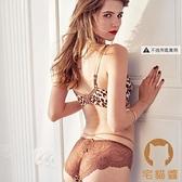 性感內衣豹紋內衣內褲套裝女文胸蕾絲薄款胸罩【宅貓醬】