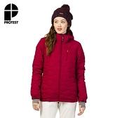PROTEST 女 機能防水保暖外套 (蘿蔔紅) NOCTON 17 SNOWJACKET