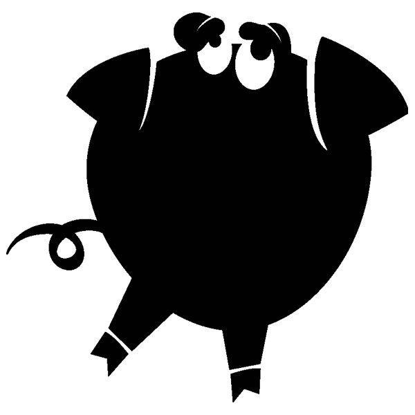 [摩達客]法國Ambiance 搞笑豬設計 家飾壁貼