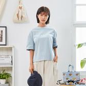 【Tiara Tiara】百貨同步新品aw延  素色字母T恤(深藍/水藍/黃)
