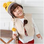 羊羔絨背心 男童 女童 口袋造型 保暖背心 Augelute 50603