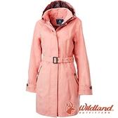 【wildland 荒野】女 長版防水防風時尚外套『紅星塵』0A82909 戶外 休閒 運動 露營 登山 騎車