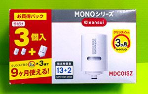 [106東京直購] Cleansui 三菱麗陽 可菱水 濾水器濾心 MDC01S 3入 相容:MD301/MD201/MD101/MD102/MD103