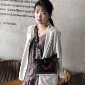 手提包 高級感包包洋氣女包2019新款潮韓版百搭斜背包少女單肩時尚手提包 免運 艾維朵