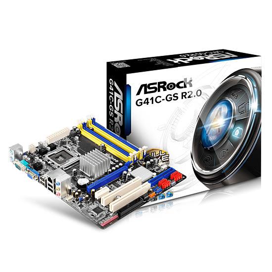 [哈GAME族]免運費 可刷卡 華擎 ASROCK G41C-GS R2.0 主機板 DDR3 DDR2 LGA 775 供電採用固態電容