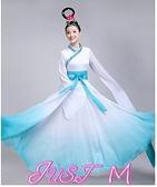 漢服新款古典舞水袖舞蹈服女采薇舞驚鴻舞演出服中國風飄逸仙女漢服 JUST M
