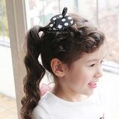 波點小老鼠圓形髮夾 兒童髮飾 兒童髮夾