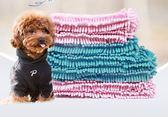 狗狗貓洗澡擦干頭髮寵物毛巾超強吸水毯浴巾速幹特大號纖維雪尼爾  范思蓮恩