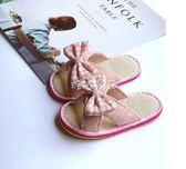 拖鞋 仙腳丫夏手工納底女寶寶亞麻拖鞋1-3-6歲防滑嬰幼兒兒童布室內鞋 珍妮寶貝