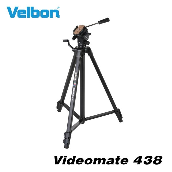 Velbon Videomate 438 油壓雲台三腳架 全高1535mm 淨重1230g 載重2kg【公司貨】