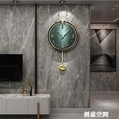 北歐式鐘表掛鐘餐客廳掛牆時尚時鐘家用大氣網紅現代簡約掛牆輕奢 NMS創意新品