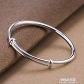 手鐲  手鐲女純銀女士流行滿天星推拉手環999足銀飾品禮物  朵拉朵衣櫥