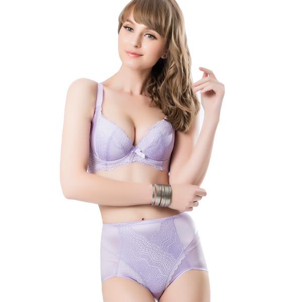 思薇爾-挺享塑系列A-D罩蕾絲包覆涼感內衣(花香紫)