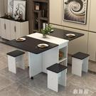 折疊餐桌家用小戶型4人長方形簡易圓形可移...