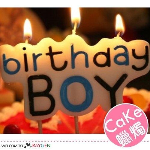 蛋糕蠟燭 HAPPY BIRTHDAY 男孩女孩生日字母蠟燭