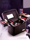 大容量韓國化妝包多功能小號方袋便攜手提多層化妝品收納盒簡約箱『小宅妮時尚』
