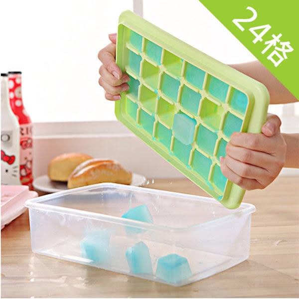 24格兩用製冰格保鮮盒 (附冰鏟) 【隨機出貨不挑色】