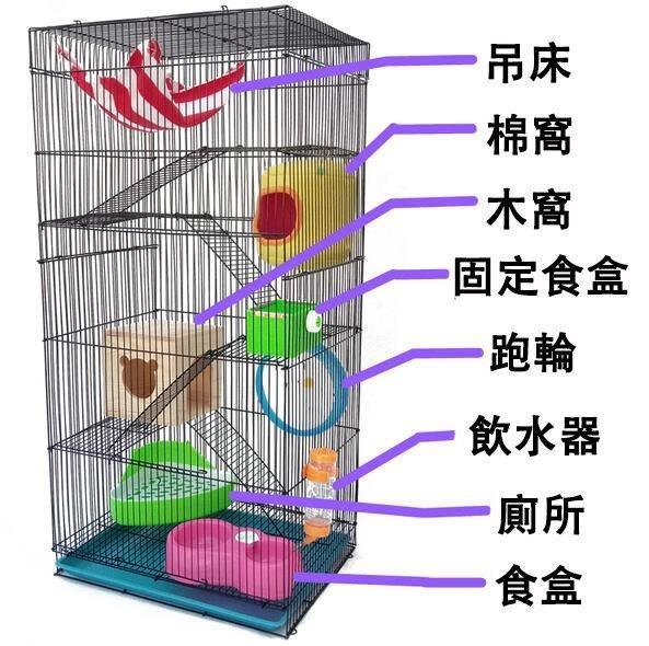 龍貓籠 倉鼠豚鼠袋鼯籠 荷蘭豬標籠別墅 鼠籠松鼠籠【藍星居家】