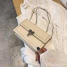 chic小包包女新款韓版質感洋氣側背包時尚百搭斜背錬條小方包 黛尼時尚精品