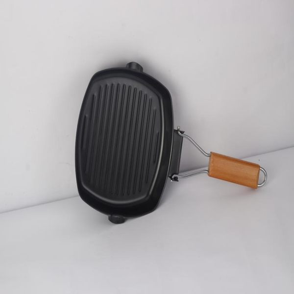 618大促牛排煎鍋多用途平底鍋燃氣灶電磁灶適用鑄鐵工藝加厚耐高溫不粘鍋