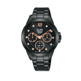ALBA雅柏 新上市廣告款情人對錶推薦女生款 VD75-X123SD(AP6641X1)黑