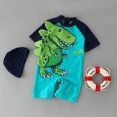 兒童泳衣男童連體恐龍游泳衣褲防曬寶寶嬰幼