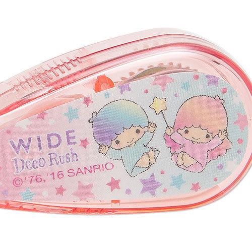 【震撼精品百貨】Little Twin Stars KiKi&LaLa 雙子星小天使~雙星仙子寬幅裝飾立可帶(粉彩星)