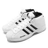 adidas 籃球鞋 Pro Model 2G 白 黑 貝殼頭 復刻 男鞋 【ACS】 FW4344