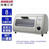 SANLUX台灣三洋8L定時電烤箱SK-08A