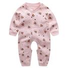 嬰兒連體衣服春秋夏季空調服薄款長袖新生兒睡衣純棉男女寶寶哈衣