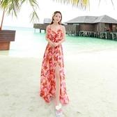 波希米亞長裙-海邊渡假時尚艷麗洋裝73sg25[巴黎精品】