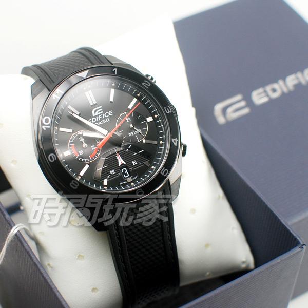 CASIO卡西歐 EDIFICE EFV-590PB-1A 數字時刻 賽車錶 三眼錶 計時碼表 男錶 橡膠 EFV-590PB-1AVUDF