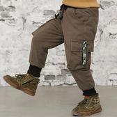 618大促 男童褲子加絨工裝褲2019新款冬裝兒童棉褲三層加厚保暖運動休閒褲 百搭潮品