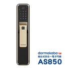 dormakaba 四合一密碼/指紋/卡片/鑰匙推拉智慧電子門鎖AS850香檳金(附基本安裝)