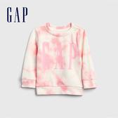 Gap女嬰做舊紮染徽標LOGO上衣543548-俏麗粉
