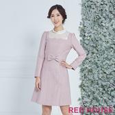 【RED HOUSE 蕾赫斯】羊毛蕾絲洋裝(共兩色)